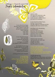 Plakat-Schmetterling